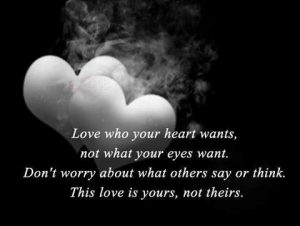 Love who your heart wants - dating expectations