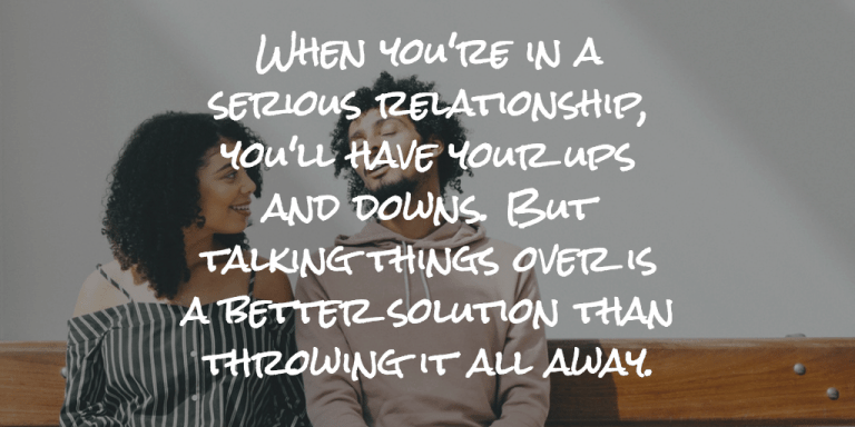 Talking things over is a better solution