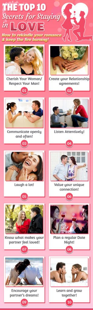The top ten secrets for staying in love
