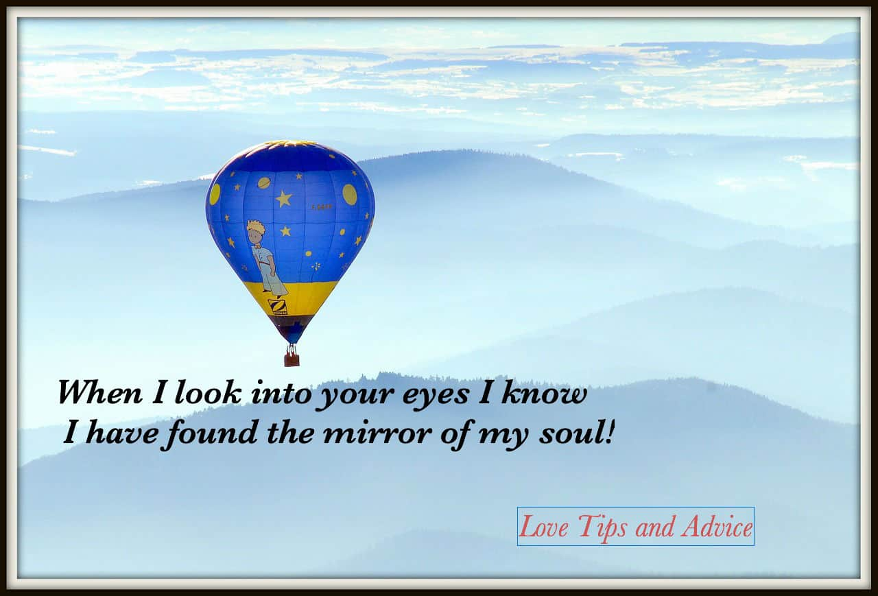 When I Look Into Your Eyes I Know I Have Found The Mirror